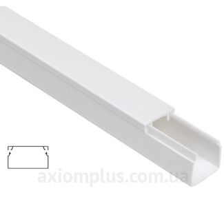Настенный кабель канал 40х16мм белого цвета производства IEK - фото