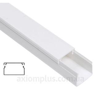 Настенный кабель канал 60х40мм белого цвета от компании IEK - фото