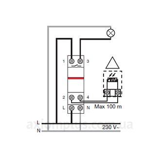 Схема подключения реле ABB TW1