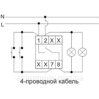 Схема подключения реле EC/F&F AS-222T