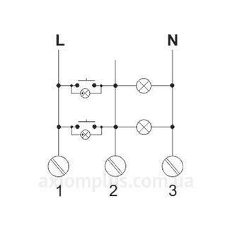 Схема подключения Реле лестничного EC/F&F РЧ-602