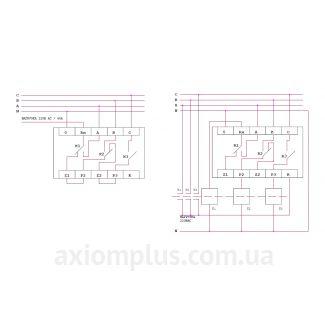 схема Автоматический переключатель фаз ФК-1