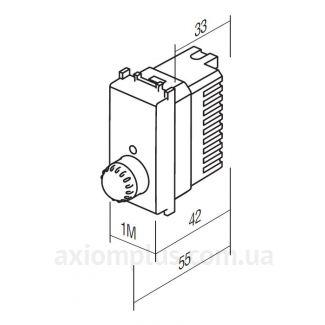 размеры светорегулятора ТЕМ MODUL EM10PW-B