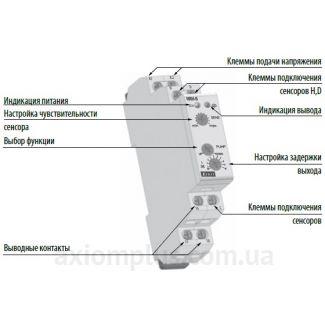 реле уровня жидкости HRH-5/UNI схема