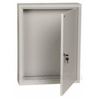 Фото серый монтажный шкаф IEK ЩМП 3-1-36 габариты 650х500х150мм
