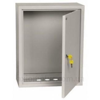 Фото серый монтажный шкаф IEK ЩМП 3-0-36 габариты 650х500х220мм