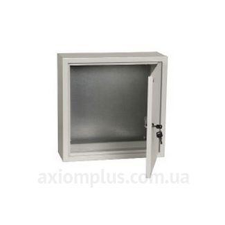 Фото серый монтажный бокс IEK ЩМП 4.4.1-0-36 габариты 400х400х150мм