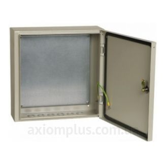 Фото серый монтажный бокс IEK ЩМП 4.4.1-0-74 размер 400х400х150мм