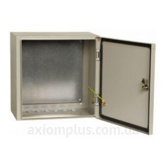 Фото серый монтажный бокс IEK ЩМП 4.4.2-0-74 размер 400х400х250мм