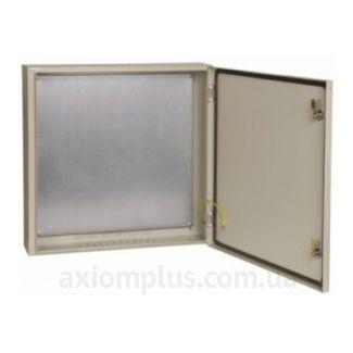 Фото серый монтажный шкаф IEK ЩМП 6.6.1-0-74 габариты 600х600х150мм