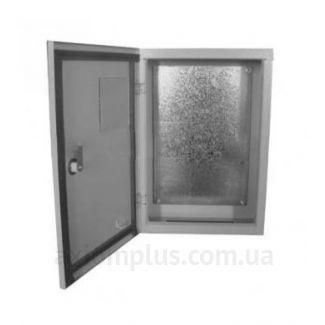 Фото серый монтажный шкаф Билмакс БМ габариты 800х600х300мм