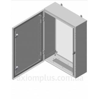 Фото серый монтажный шкаф Билмакс BW 8.12.3 габариты 1200х800х300мм