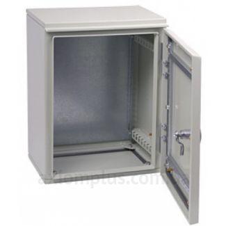 Фото серый монтажный шкаф IEK ЩМП GARANT 3-0-74 размер 650х500х220мм