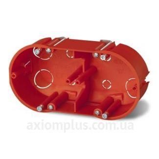 Красный подрозетник Elektro-Plast PК-2х60 К-G 250V