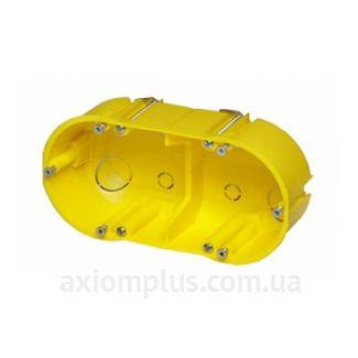 Желтый подрозетник Elektro-Plast РК-2х60