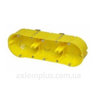 Желтый подрозетник Elektro-Plast РК-3х60