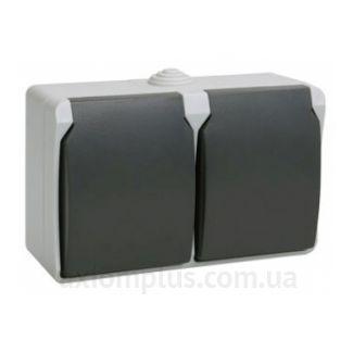 Фото IEK серии Форс РСб22-3-ФСр серого цвета