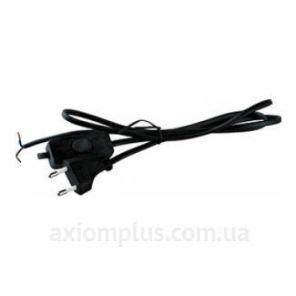 Вилка со шнуром и кнопкой ПА-1300-2м черная, Аско