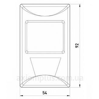 Габаритные и установочные размеры e.sensor.pir.38.white