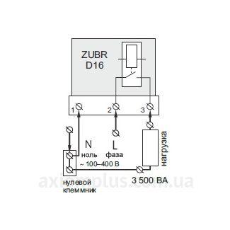 подключение реле ZUBR D16