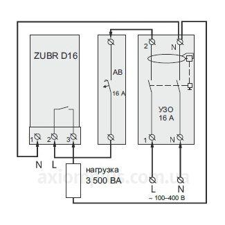 схема подключения ZUBR D16