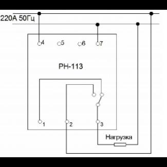 схема подключения реле РН-113 Volt Control