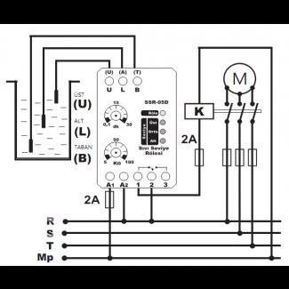 Реле контроля уровня жидкости SSR-05 Tense схема
