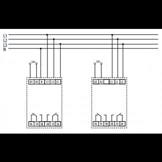 реле контроля фаз HRN-43/230V ELKOep схема подключения
