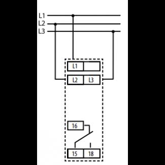 схема подключения реле HRN-54