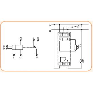 Схема подключения сумеречного реле SOU-1 230V
