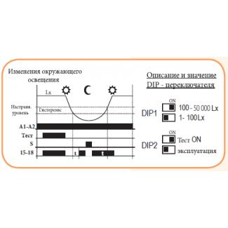 Схема подключения сумеречного реле SOU-1 UNI