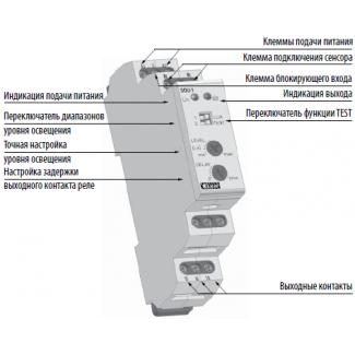 Конструкция сумеречного реле SOU-1 UNI