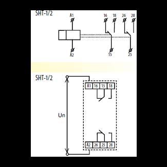 Схема и подключение SHT-1/2 UNI