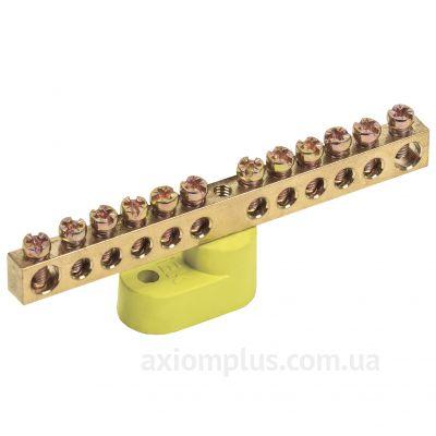 Шина (PE) ШНИ-6х9-12-У1-Ж 100А (12 контактов контактов) (желтый цвет) фото