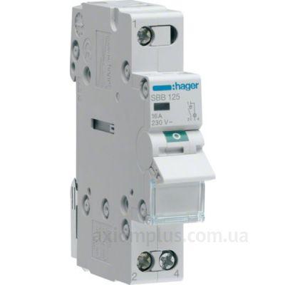 Модульный разрывной 1P выключатель нагрузки 0-1 на 25А Hager SBB125