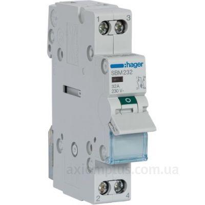Модульный разрывной 2P выключатель нагрузки 0-1 на 32А Hager SBM232
