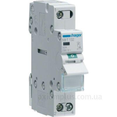 Модульный разрывной 1P выключатель нагрузки 0-1 на 32А Hager SBT132