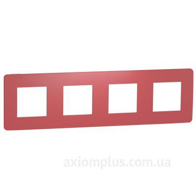 Изображение Schneider Electric из серии Unica Studio Color NU280813 красного цвета