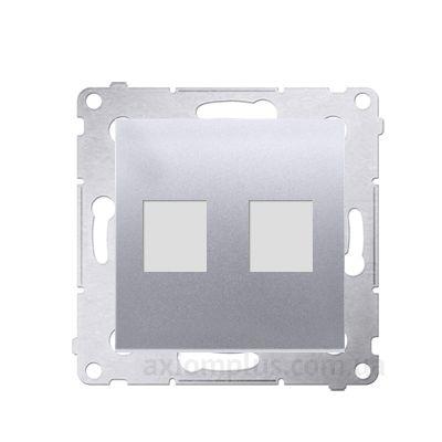 Изображение Kontakt Simon серии Simon 54 Premium DKP2.01/43 серебристого цвета