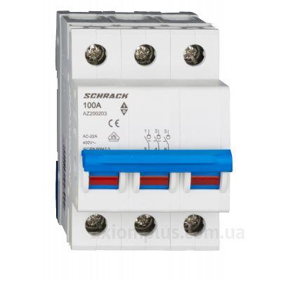 Модульный разрывной 3P выключатель нагрузки 0-1 на 100А Schrack Technik AZ200203--