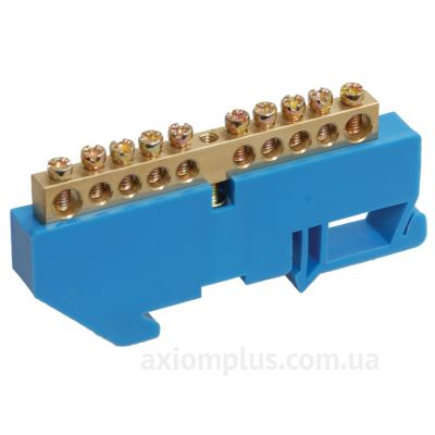 Шина (N) ШНИ-6х9-18-Д-C 100А (18 контактов контактов) (синий цвет) фото