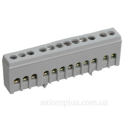 Шина (L) фазная ШНИ-6х9- 8-К-Ср 100А (8 контактов контактов) (серый цвет) фото