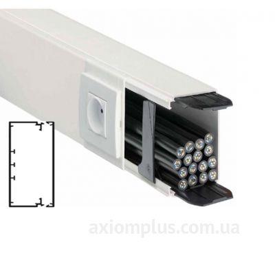 Настенный кабель канал 60х110мм белого цвета производства Hager - фото