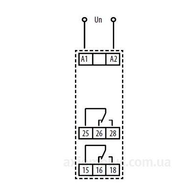 схема подключения реле времени SJR-2/230V