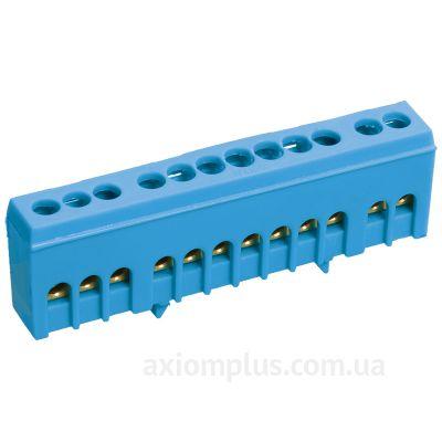 Шина (N) ШНИ-6х9-10-К-C 100А (10 контактов контактов) (синий цвет) фото