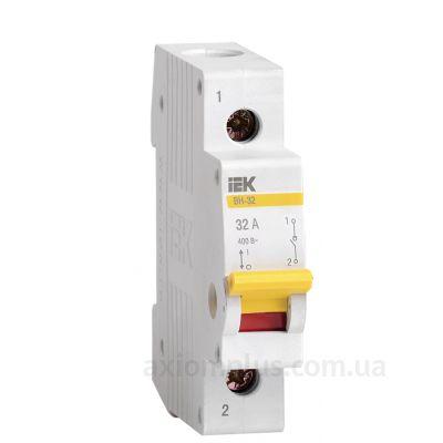 Модульный разрывной 1P выключатель нагрузки 0-1 на 32А IEK MNV10-1-032