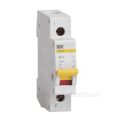 Модульный разрывной 1P выключатель нагрузки 0-1 на 40А IEK MNV10-1-040