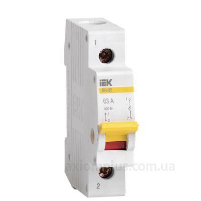 Модульный разрывной 1P выключатель нагрузки 0-1 на 63А IEK MNV10-1-063