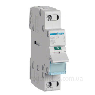 Модульный разрывной 1P выключатель нагрузки 0-1 на 25А Hager SBN125