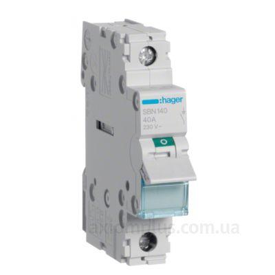 Модульный разрывной 1P выключатель нагрузки 0-1 на 40А Hager SBN140